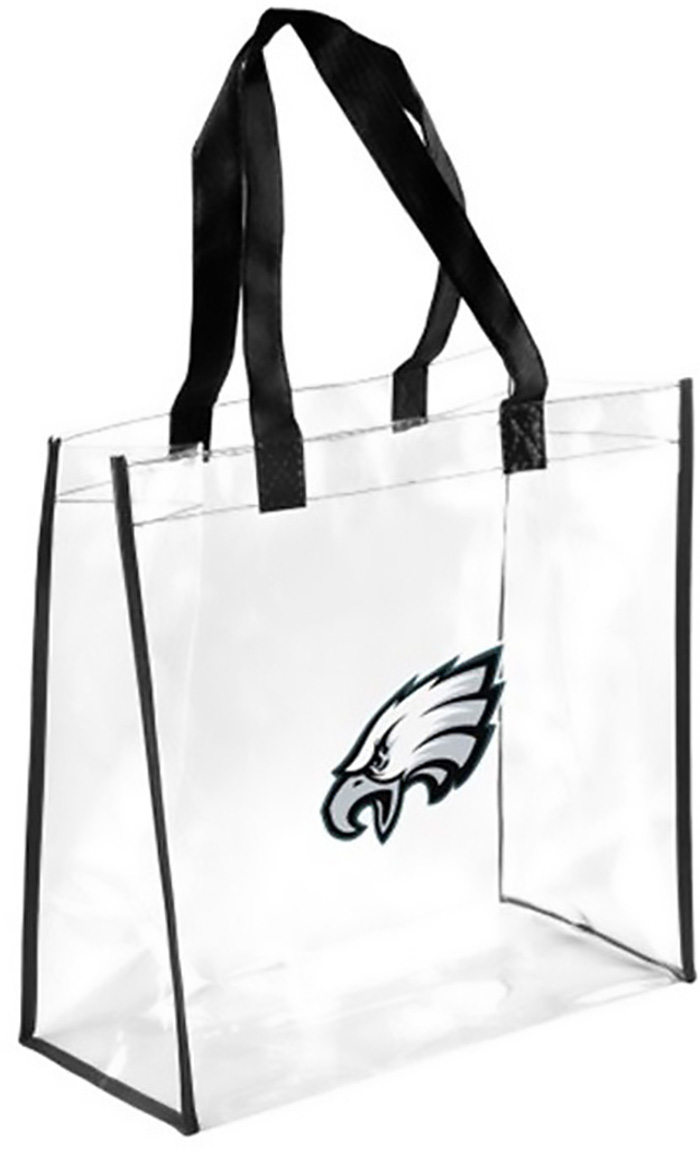 Philadelphia Eagles White Stadium Approved Clear Bag - Image 1