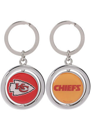 Kansas City Chiefs Football Spinner Keychain