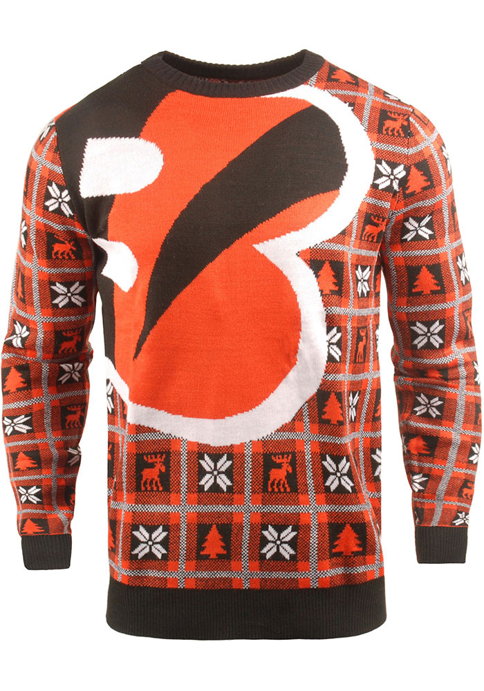 Cincinnati Bengals Mens Black Big Logo Long Sleeve Sweater - Image 1