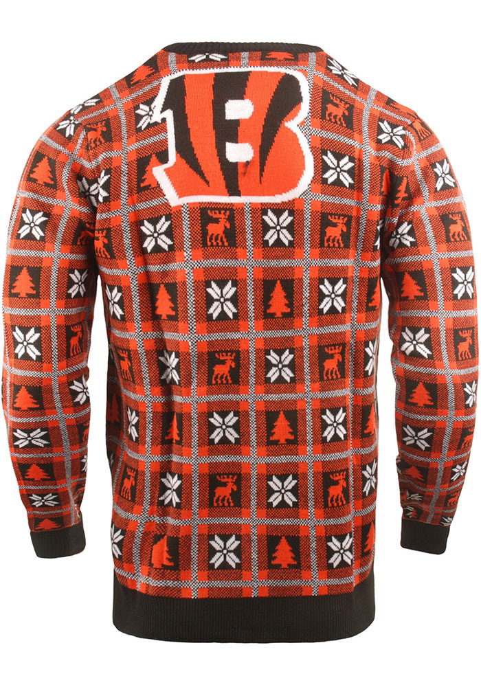 Cincinnati Bengals Mens Black Big Logo Long Sleeve Sweater - Image 2