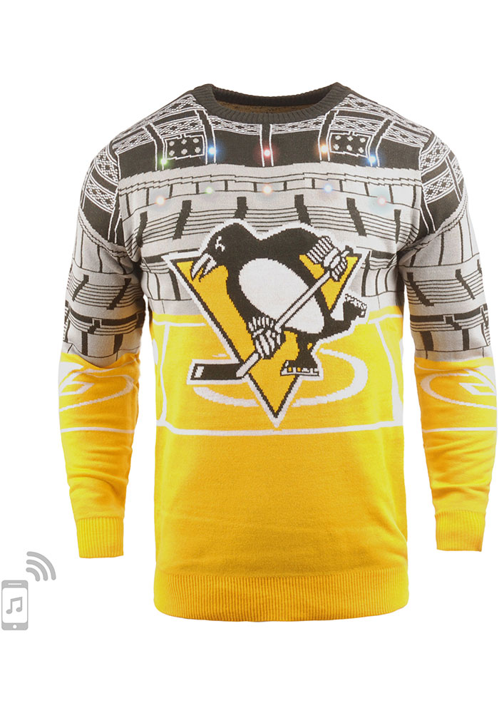 Pittsburgh Penguins Mens Black Bluetooth Long Sleeve Sweater - Image 1
