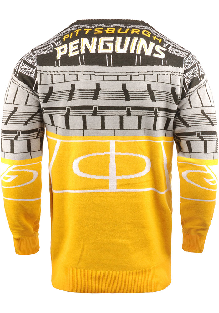 Pittsburgh Penguins Mens Black Bluetooth Long Sleeve Sweater - Image 2