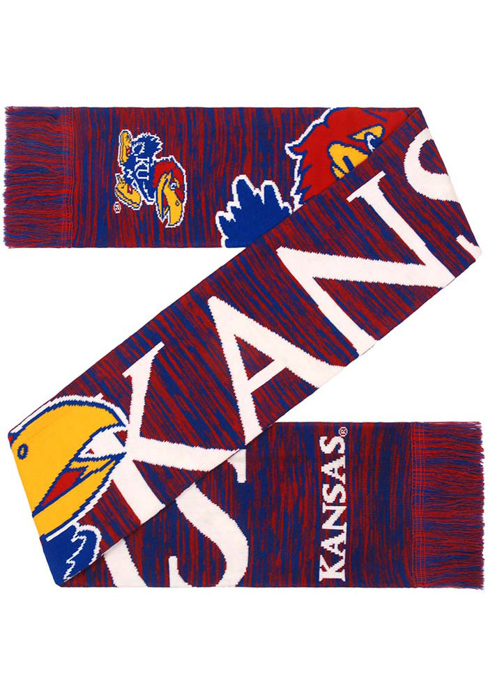 Kansas Jayhawks Big Logo Colorblend Scarf - Blue
