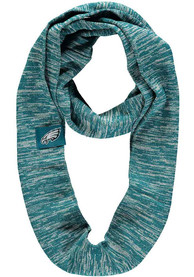 Philadelphia Eagles Womens Colorblend Infinity Scarf - Midnight Green