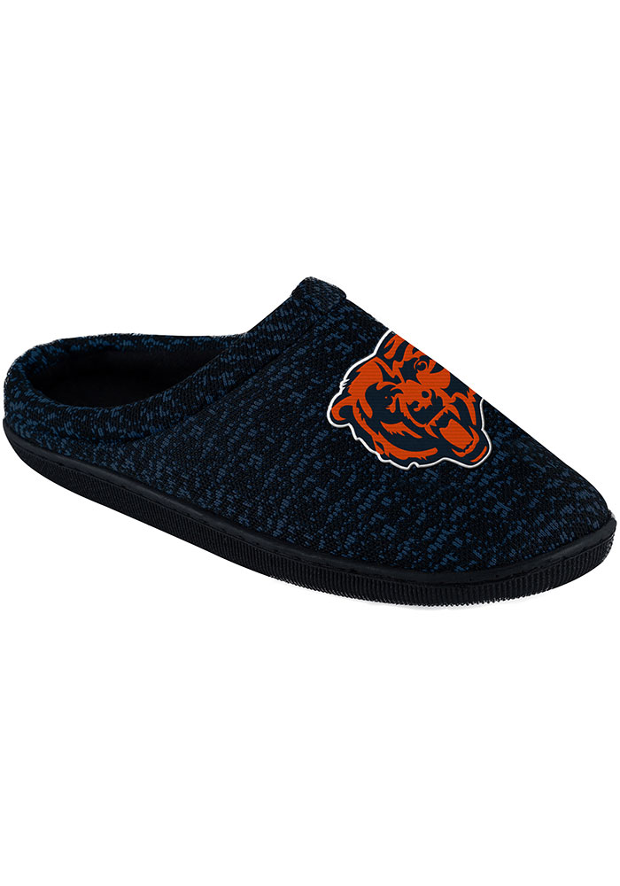 Chicago Bears Poly Knit Mens Slippers - Image 1