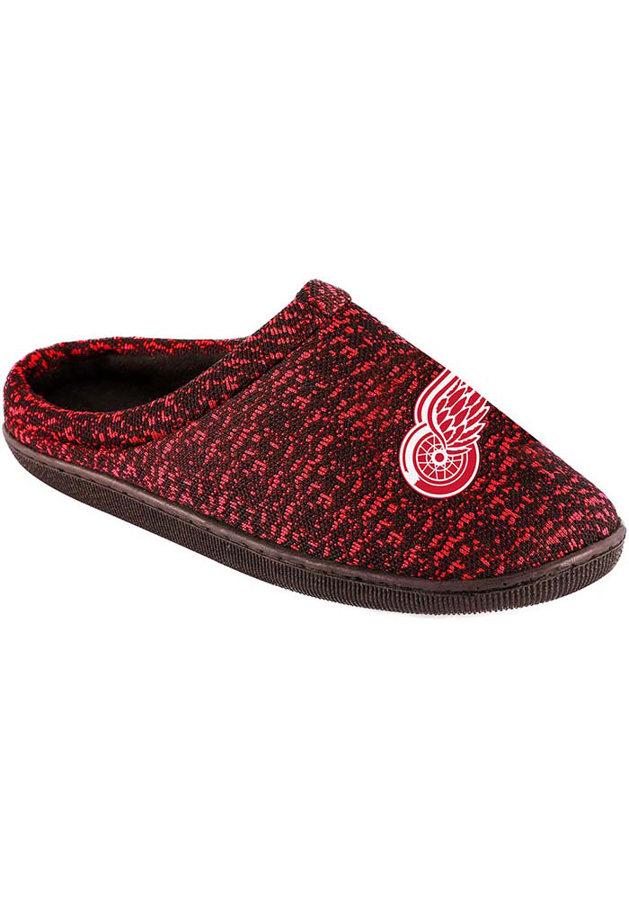 Detroit Red Wings Poly Knit Slippers - Red