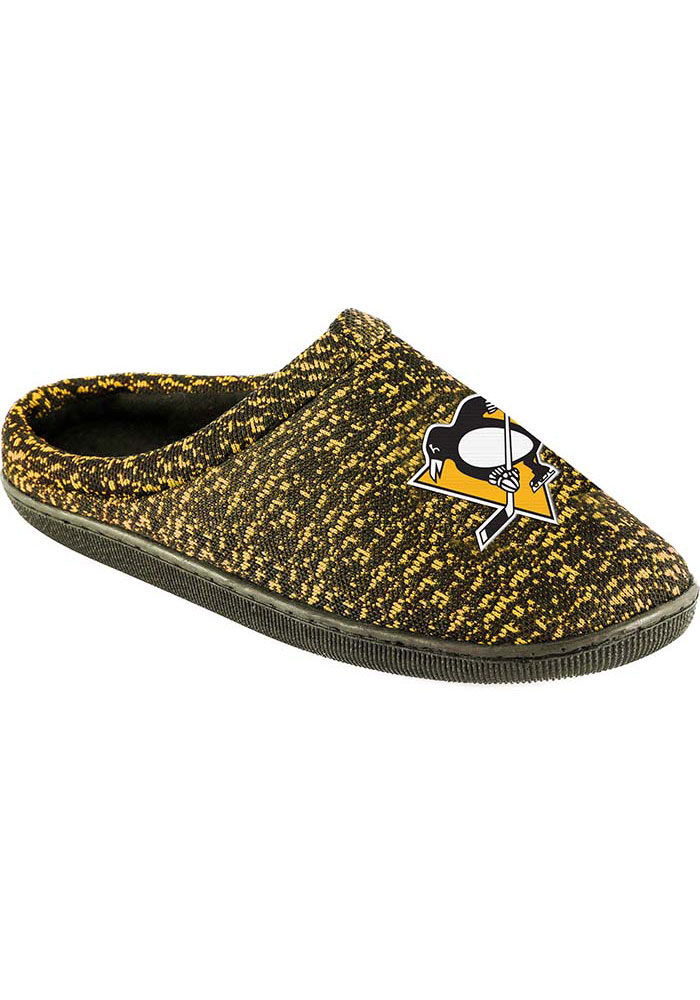 Pittsburgh Penguins Poly Knit Mens Slippers - Image 1