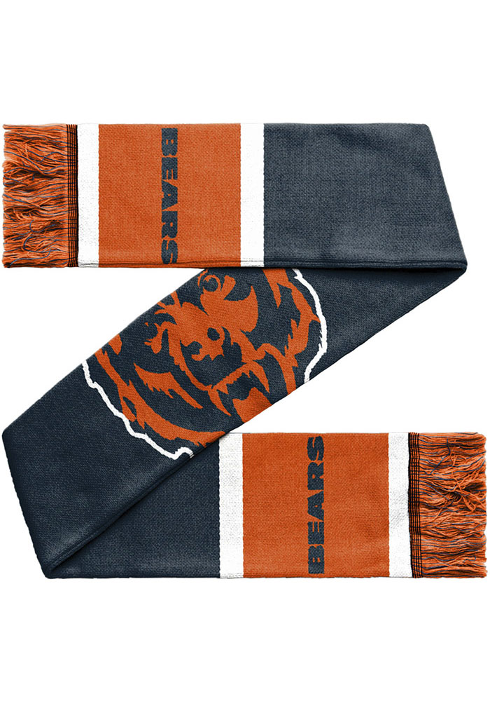 Chicago Bears 2019 Reversible Colorblock Scarf - Navy Blue