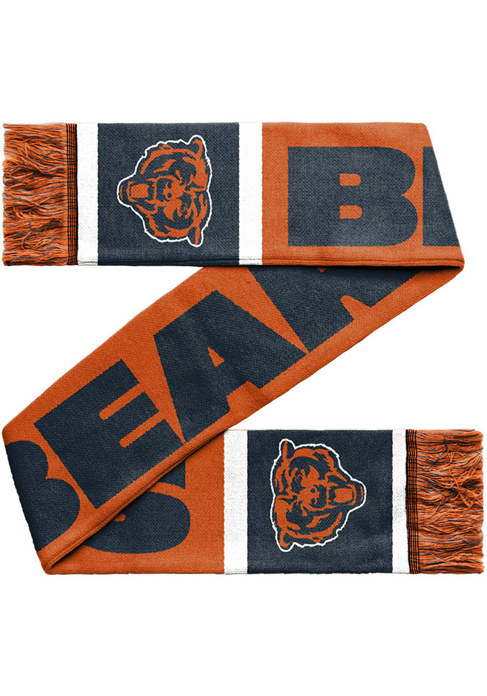 Chicago Bears 2019 Reversible Colorblock Mens Scarf - Image 2