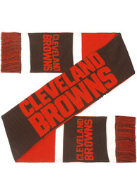 Cleveland Browns 2019 Reversible Colorblock Scarf - Brown