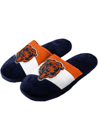 Chicago Bears Colorblock Slippers - Navy Blue