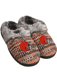 Cleveland Browns Womens Peak Slippers - Grey