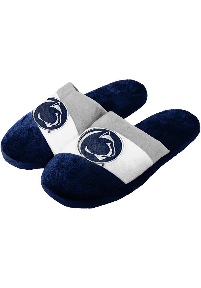 Penn State Nittany Lions Colorblock Mens Slippers - Image 1