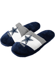 Dallas Cowboys Youth Colorblock Slippers - Navy Blue