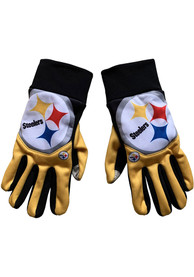 Pittsburgh Steelers Big Logo Cropped Texting Gloves - Black
