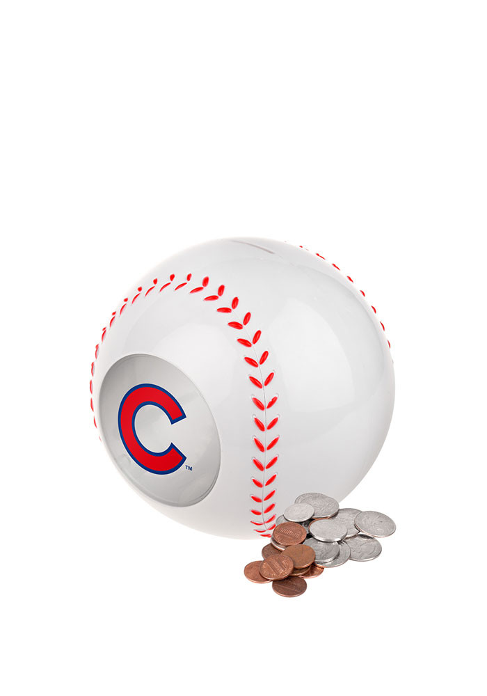 Chicago Cubs Clear Ball Piggy Bank - Image 1