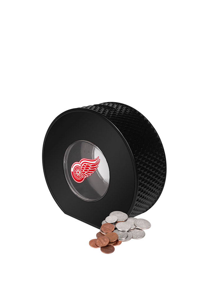 Detroit Red Wings Clear Ball Piggy Bank - Image 1