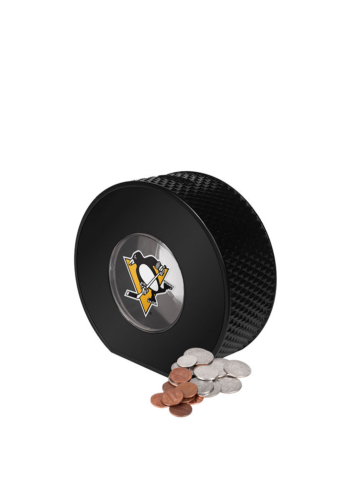 Pittsburgh Penguins Clear Ball Piggy Bank - Image 1