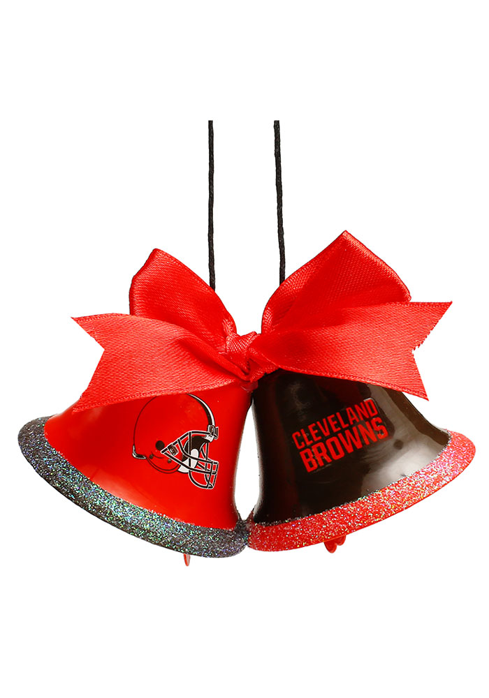Cleveland Browns Two Bells Ornament - Image 1