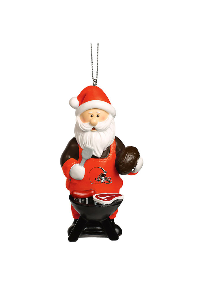 Cleveland Browns Santa Grill Ornament - Image 1