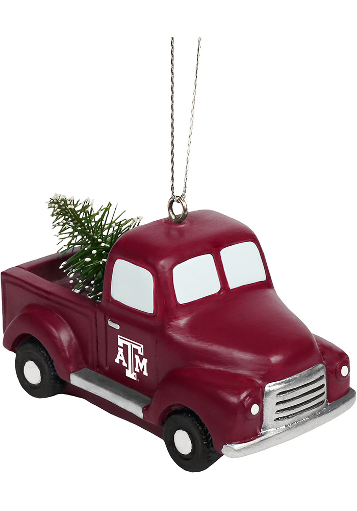 Texas A&M Aggies Truck with Tree Ornament - Image 1