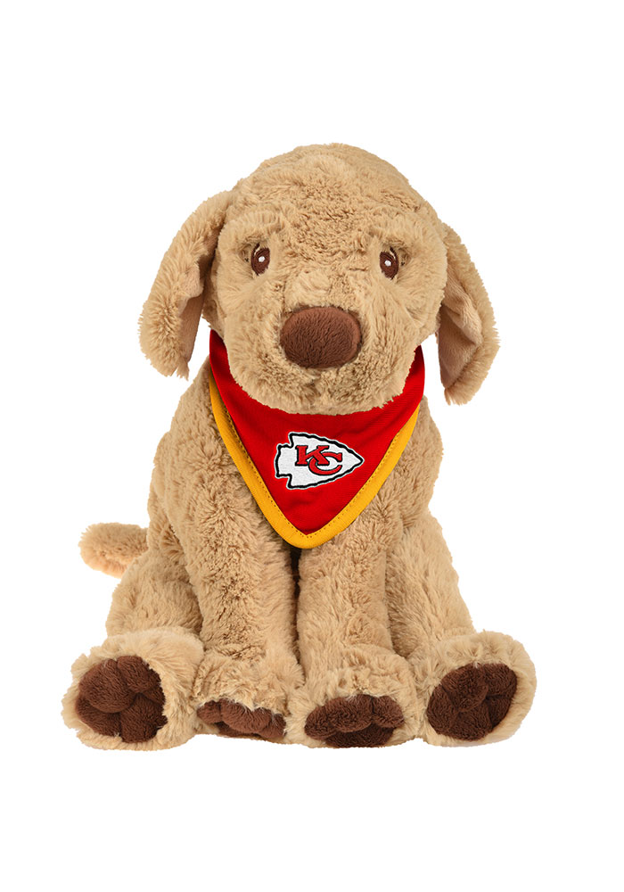 Kansas City Chiefs Bandana Puppy Plush - Image 1