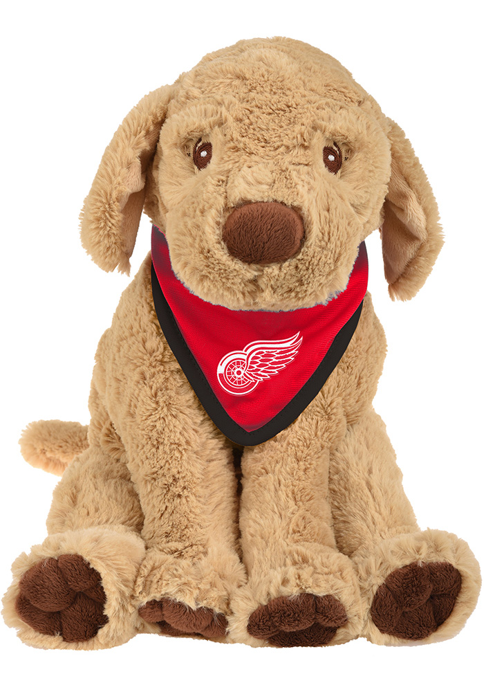 Detroit Red Wings Bandana Puppy Plush - Image 1