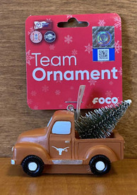 Texas Longhorns Truck with Tree Ornament