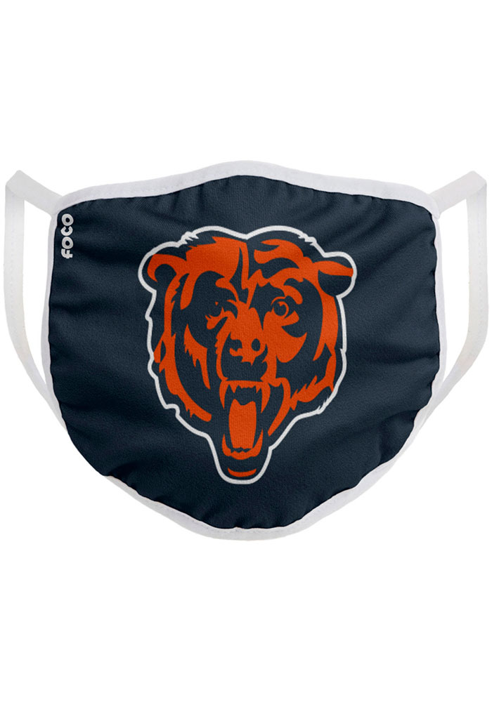 Chicago Bears Big Logo Single Pack Fan Mask - Blue
