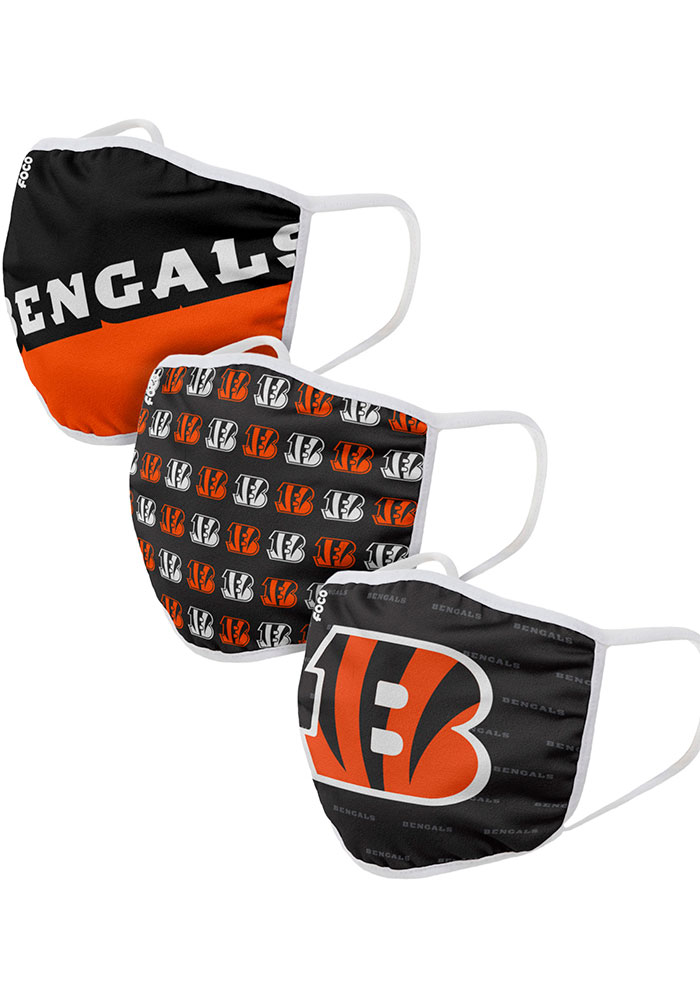 Cincinnati Bengals Gametime 3pk Fan Mask - Orange