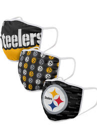 Pittsburgh Steelers Gametime 3pk Fan Mask - Yellow