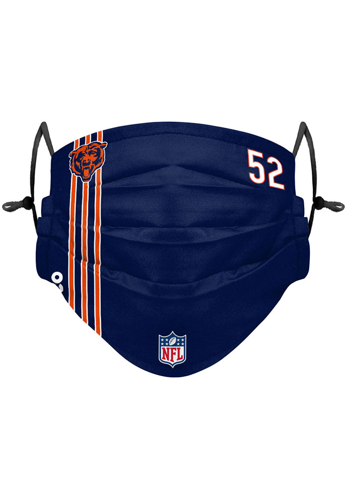 Chicago Bears Khalil Mack 52 Fan Mask - White