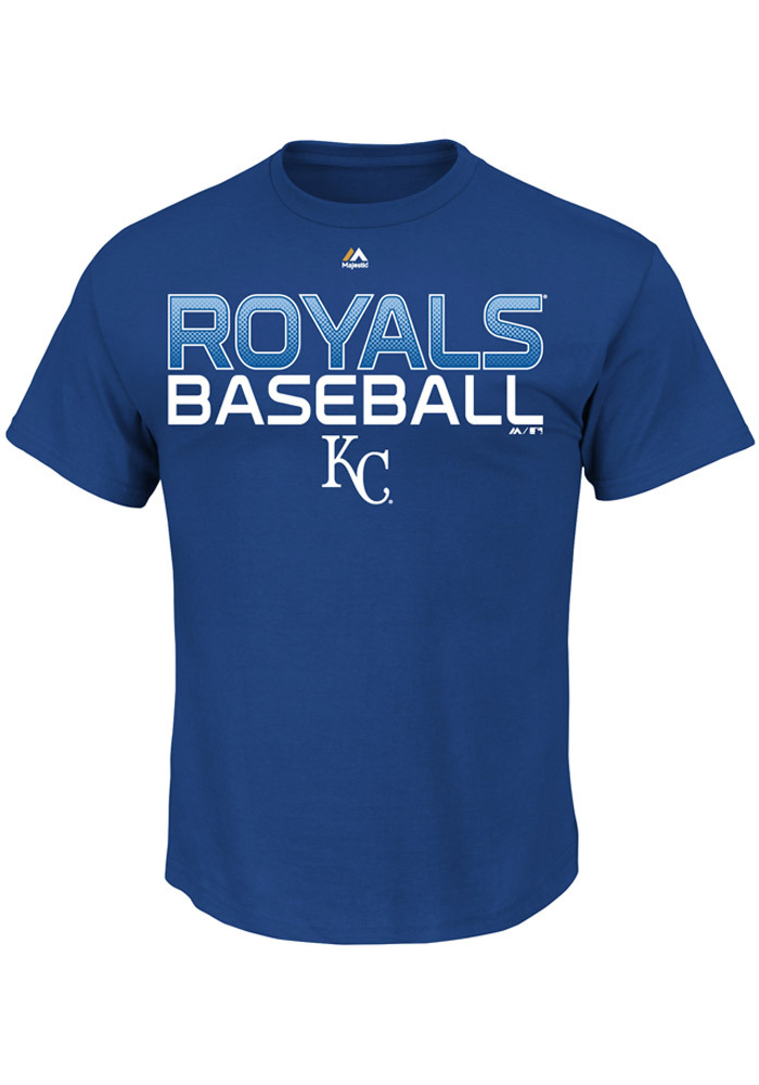 Majestic Kansas City Royals Blue Game Winning Run Tee
