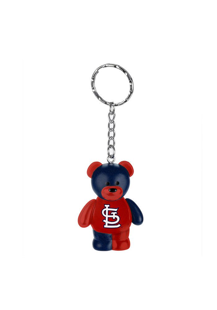 St Louis Cardinals Bear Keychain - Image 1