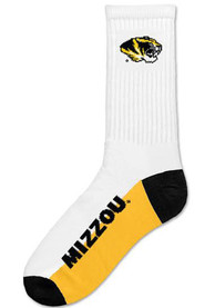 Missouri Tigers Color Block Crew Socks - White