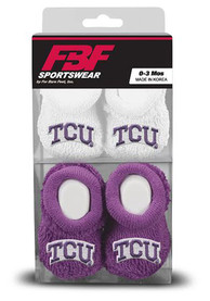 TCU Horned Frogs Baby 2 Pack Bootie Boxed Set - White