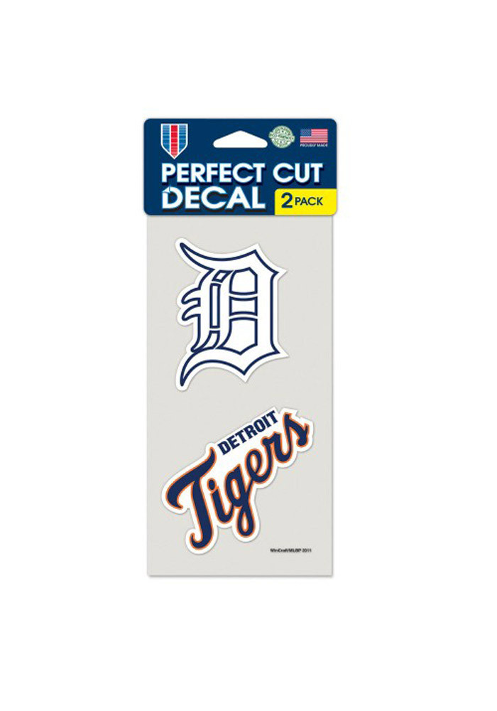 Detroit Tigers 4x4 2pk Decal - Image 1