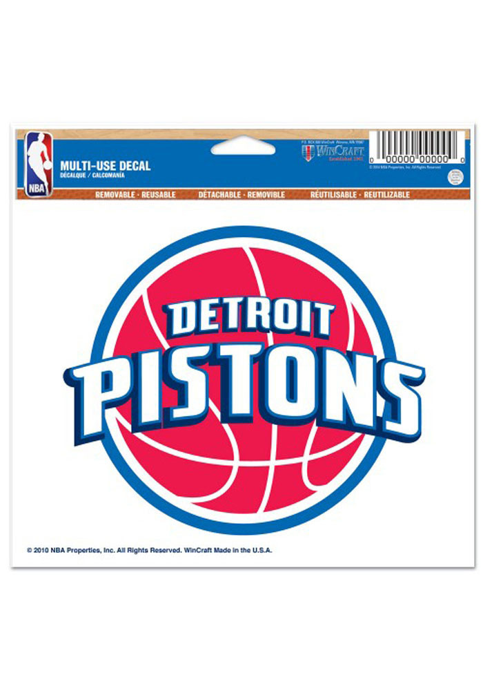 Detroit Pistons 5x6 Multi Use Decal - Image 1