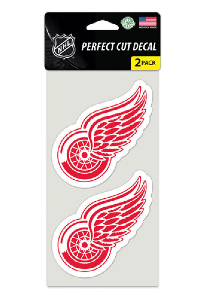 Detroit Red Wings 4x4 2 Pack Auto Decal - Red