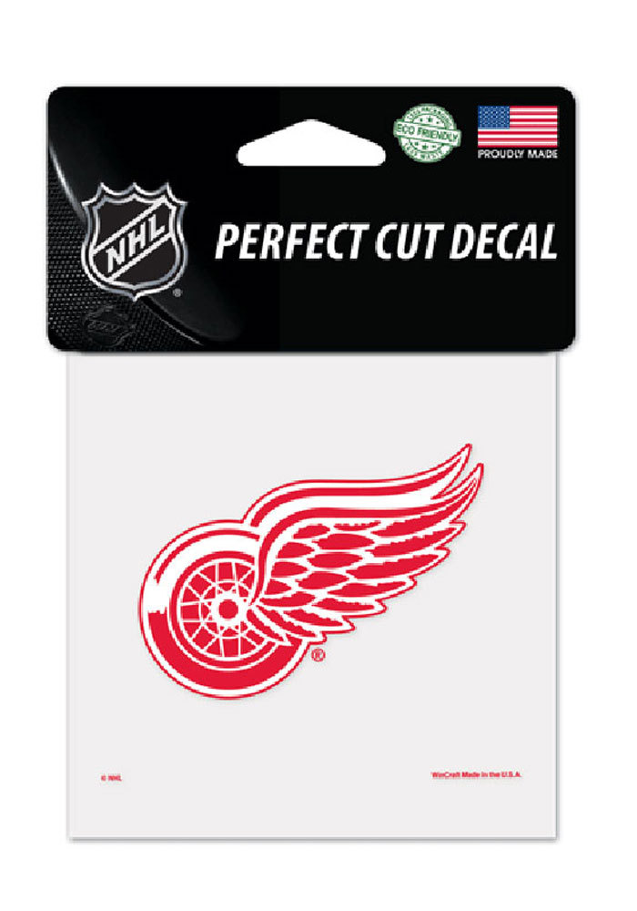 Detroit Red Wings 4x4 Auto Decal - Red - Image 1