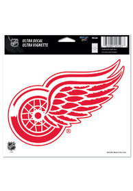 Detroit Red Wings 5x6 Logo Auto Decal - Red