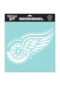 Detroit Red Wings 8x8 White Auto Decal - White