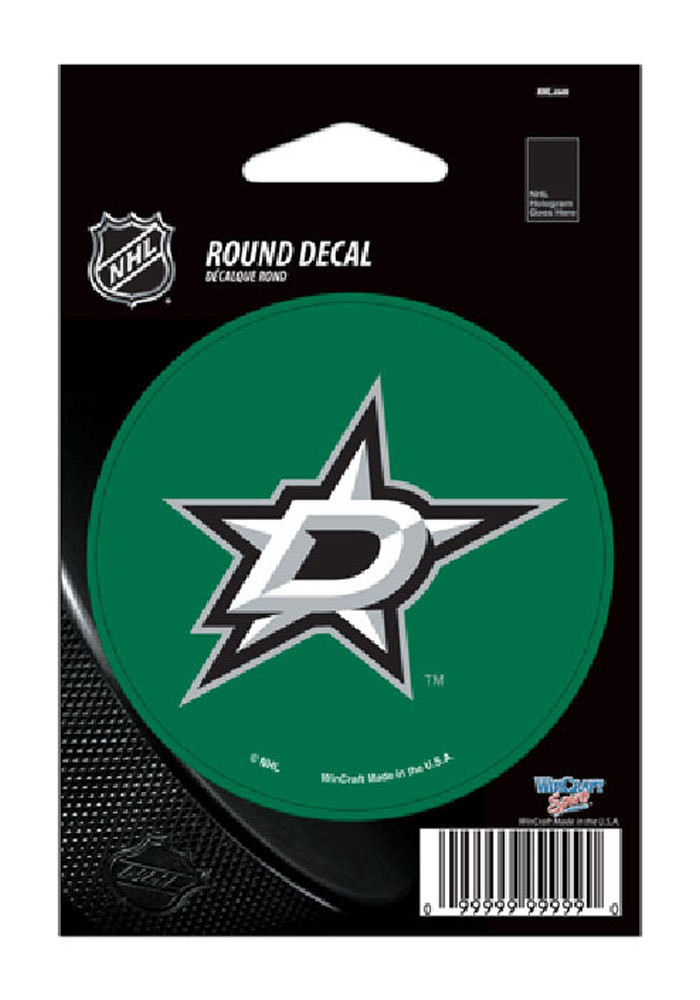 Dallas Stars 3x3 Round Decal - Image 1