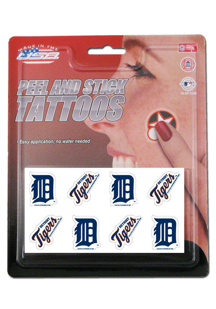 Detroit Tigers 8 Pack Tattoo - Image 1