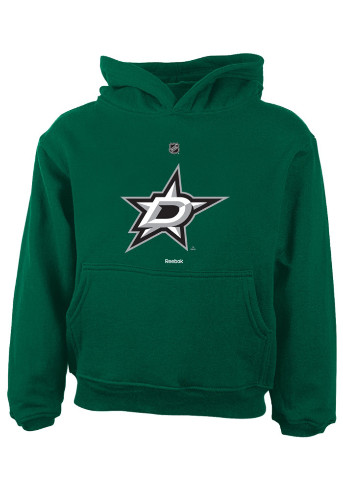 Dallas Stars Toddler Green Primary Logo Long Sleeve Hooded Sweatshirt - Image 1