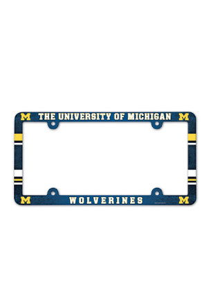 Michigan Wolverines Plastic Full Color License Frame