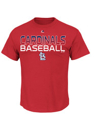 Majestic St Louis Cardinals Red Game Winning Tee