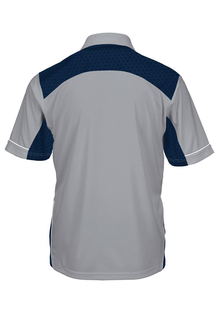 Majestic New York Yankees Mens Grey Victory Anthem Synthetic Short Sleeve Polo - Image 3