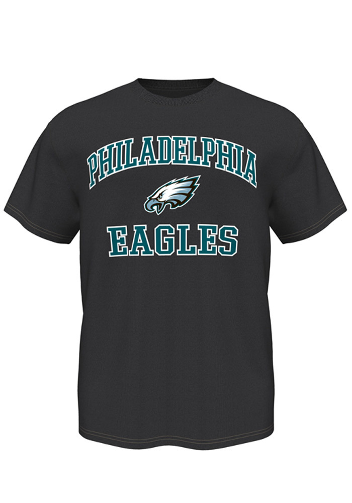Majestic Philadelphia Eagles Grey Heart and Soul Short Sleeve T Shirt - Image 1