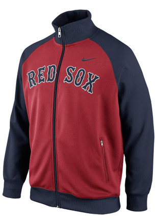 Nike Boston Red Sox Mens Red Track Track Jacket